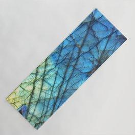 Royal Labradorite Crystal Agate Gemstone Print Yoga Mat