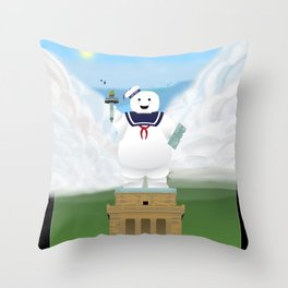 Statue of Stay Puft - Happy Throw Pillow