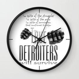 True Detroiters Wall Clock