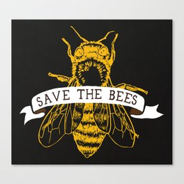 Save The Bees (Dark) Canvas Print