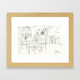 afternoon break at Lesbos Island Framed Art Print