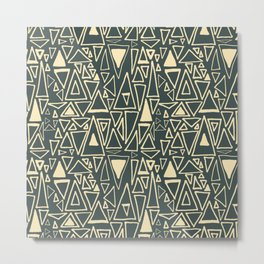 Chaotic Angles in Slate by Deirdre J Designs Metal Print