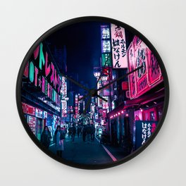 Nocturnal Alley Wall Clock