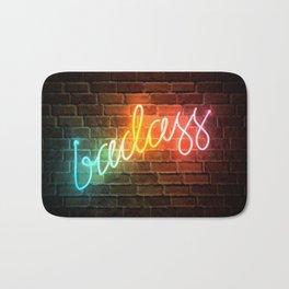 Badass Rainbow Neon Sign Bath Mat