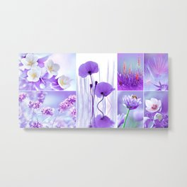 Collage Spring Violet 101 Metal Print