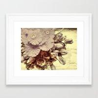 vintage floral Framed Art Prints featuring Vintage Floral by Joke Vermeer