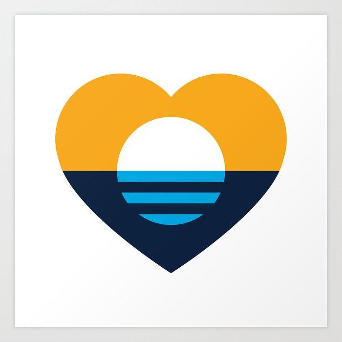 Heart of MKE - People's Flag of Milwaukee Art Print