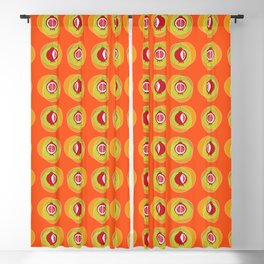Pomegranage wind chime Blackout Curtain