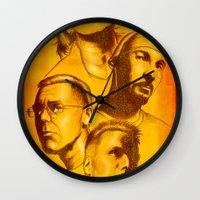 u2 Wall Clocks featuring U2 - Série Ouro by Renato Cunha