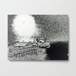 Full Moon Over Naples Metal Print