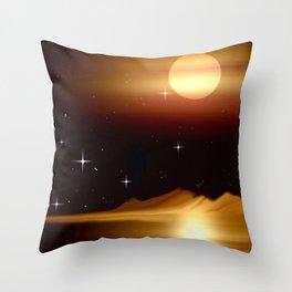 Dort, wo die Sterne leuchten. Throw Pillow