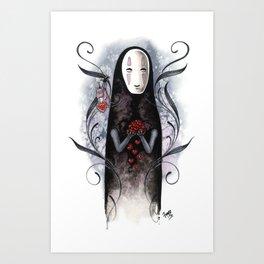No Face Valentine Art Print
