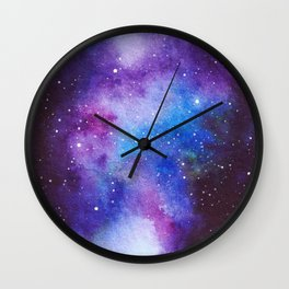 Magenta Stream Galaxy Cirlce Wall Clock