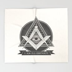 I am illuminati Throw Blanket