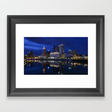 City reflections Columbus Ohio Framed Art Print