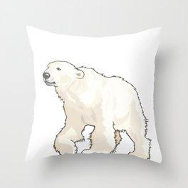 I Love Polar Bears Arctic Conservation Throw Pillow