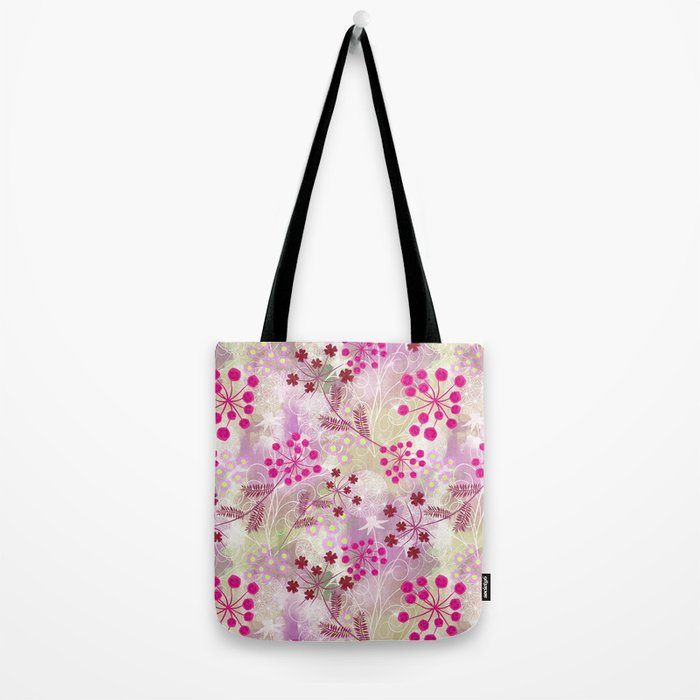 bright floral pattern ,watercolor background. Tote Bag