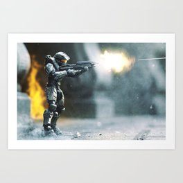 Fire Fight Art Print