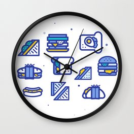 Sandwiches Wall Clock