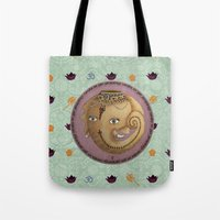 ganesh Tote Bags featuring Ganesh by S*TRU