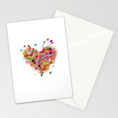 Heart1 White Stationery Cards