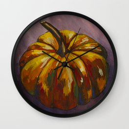 Purple pumpkin Wall Clock