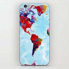 World Map - 3 iPhone & iPod Skin