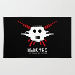 Electro - The Final Frontier - for dark backgrounds Rug