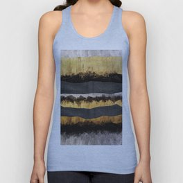 Golden Ocean Waves #1 #abstract #painting #decor #art #society6 Unisex Tank Top