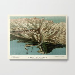 Map Of Panama Canal 1881 Metal Print