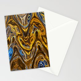 Psychedelic Gold Stationery Cards