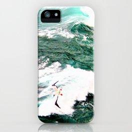Dramatic Hawaiian Ocean Swirls by Reay of Light iPhone Case