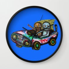 A trip by car Wall Clock