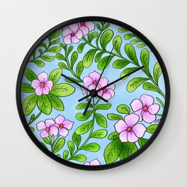 Chocolata floral pattern Wall Clock