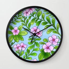 Chocolata floral pattern Wall Clock