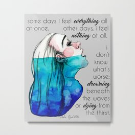 Drowning in Depression (2016) REVAMP Metal Print