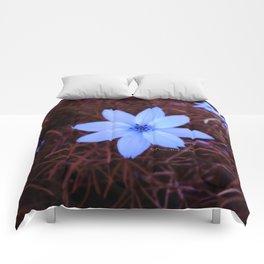 Shambhala Flower - White on Red 1 Comforters