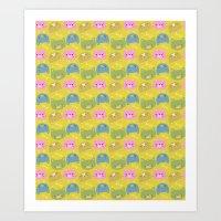 Happy Cats Art Print