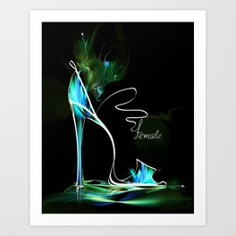 high heel2 Art Print