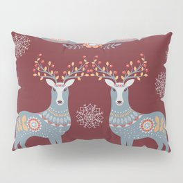 Nordic Winter Red Pillow Sham