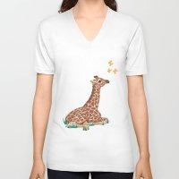 wonder V-neck T-shirts featuring Wonder by Laura