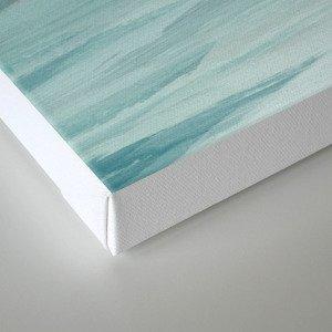 Seafoam Green Mint Navy Blue Abstract Ocean Art Painting Leinwanddruck