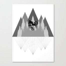 MTB Whip Gray Canvas Print