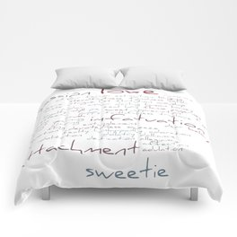 Love Word Cloud Comforters