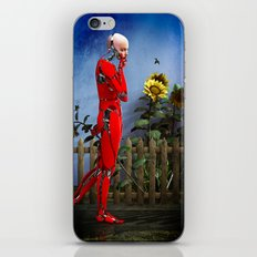 Red Robot visits the Sunflower Garden iPhone & iPod Skin