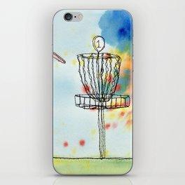 Disk Golf Basket iPhone Skin