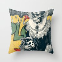 lady Throw Pillows featuring Lady by Ali GULEC