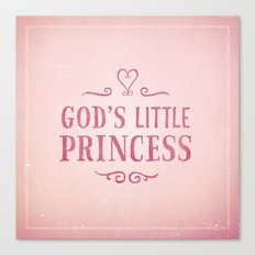 God's Little Princess Canvas Print