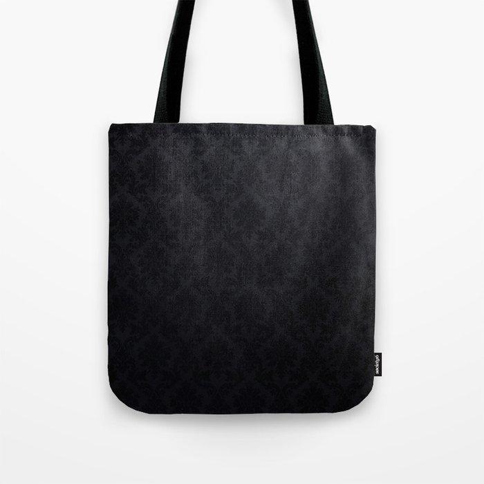 Black damask- Elegant and luxury design Tote Bag