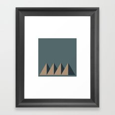 #84 Mountain range – Geometry Daily Framed Art Print